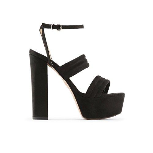 Made In Italia - FEDORA Damen Sandalen Fersen 15 cm Plattform 5 cm Schwarz
