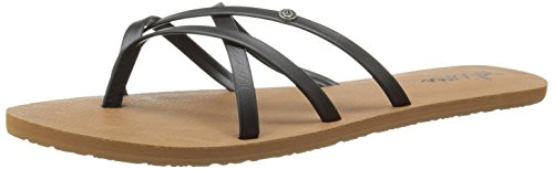 Volcom New School Womens Dress Sandal,Black,7 US