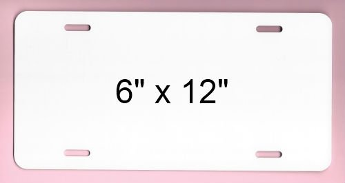 - Sublimation License Plate BLANKS - Pack of 25 - TRIPLE UV COATED .025