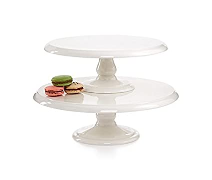 Martha Stewart Collection Set of 2 Cake Plates  sc 1 st  Amazon.com & Amazon.com | Martha Stewart Collection Set of 2 Cake Plates: Cake Stands