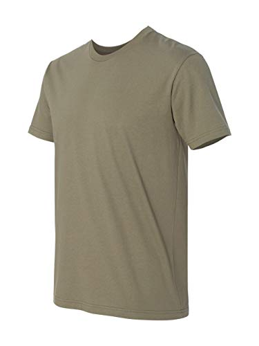 Next Level Mens Premium Fitted Short-Sleeve Crew T-Shirt - Medium - Light Olive