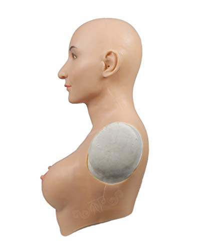 Faux Masque Transgenres Travesti Femme Drag En Queen Mascarade Seins Silicone Formes Mammaires YrwqSBY