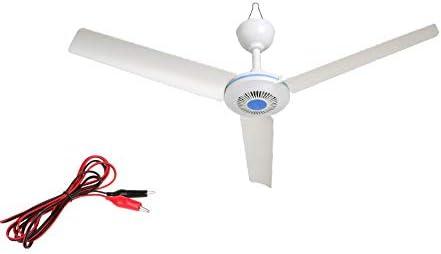 28 'Pulgadas 12 V DC ventilador de techo 12 V energía de la batería portátil ventilador de techo ventilador de techo