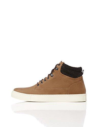 Brown Marrone a Collo Uomo Sneaker FIND Alto qx7pwgY1X