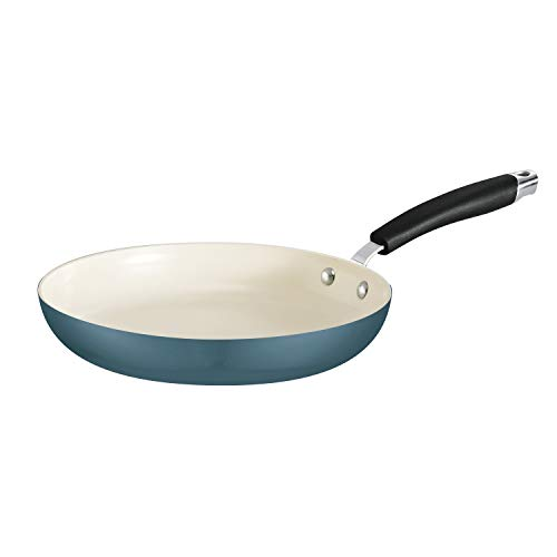 Tramontina 80110/073DS Style Ceramica Fry Pan, 10-inch, Mediterranean Blue, Made in Italy