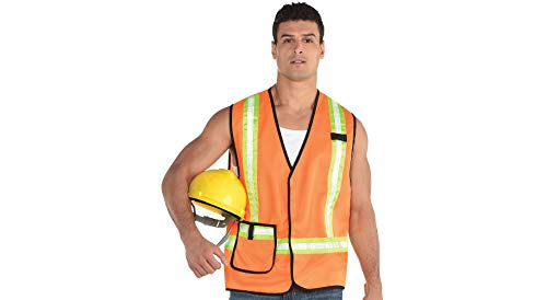 (Amscan Construction Worker Halloween Vest for Adults, One)