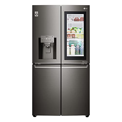 LG French Door Side by Side Refrigerator, 716 Liters, Black Stainless Steel Color – GR-X39FMKHL