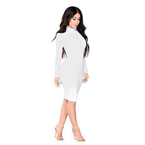 eeve Mini Dress for Women Solid Color Pencil Dress Navy Blue Dress for Women ()