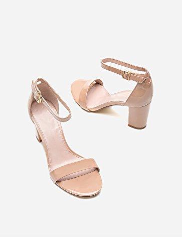 DHG moda Rosa Estate 34 freschi donna H56W8202 piccoli alti tacchi sandali fibbia gxArqgn