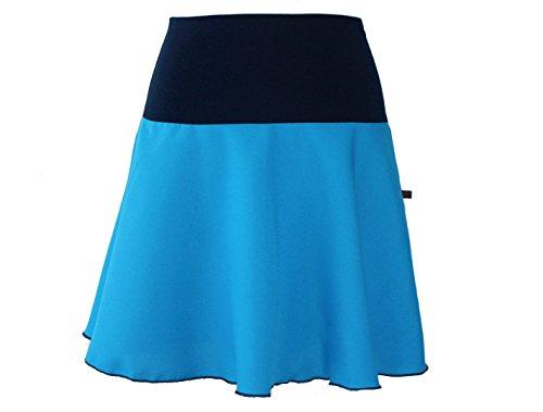 Dunkle Azur Azul Falda Trapecio Mujer Design Para ggxrHFR