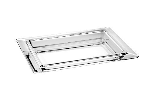 Barski European Glass - Large Rectangular Serving Tray - Platter - With Rim - 15.7