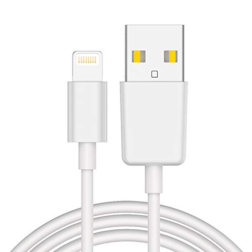 Lightning Cable(6ft), Pukey Lightning to USB A Cable Certified Fast Apple Charging Cable Charger Cords Compatible with iPhone X/XS/XSmax/XR/8/7/7Plus/6/6s/6Plus/5/5s/5c,iPod iPad Pro and More (White)
