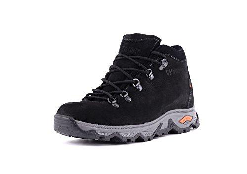 camminata da Leather ed escursionismo uomo Grigio Impermeabile TREK Andes Genuine Nero Scarponcini qB1RwttE