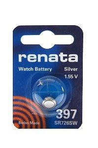 Renata Silver Oxide Watch Battery For Renata 397 Button Cell ()