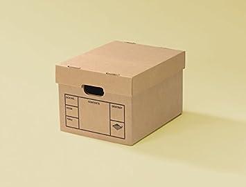 Archivo Cajas de cartón 200 # fuerza tape-free Asamblea, pequeñas, 15 x 12 x 10 cm: Amazon.es: Oficina y papelería