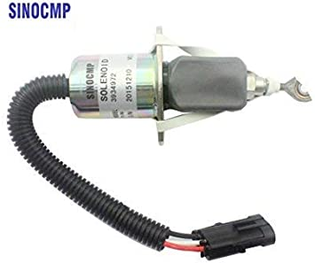 3931570 SA-4981-12 12V Stop Solenoid with Iron Bracket for Cummins Fuel Shut Down Solenoid Parts 3 Month Warranty