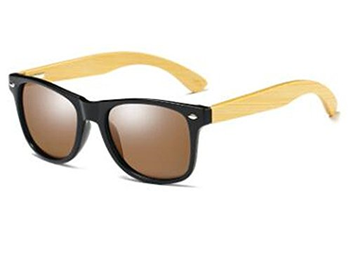 Fashion Products Men Women Glass Bamboo Sunglasses Vintage Wood Lens Wooden Frame Handmade ()