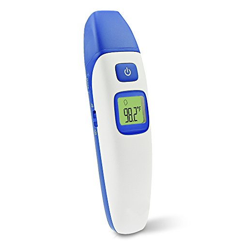 1 Second Ear Thermometer - Sotical Veamor Baby Thermometer, 3 Mode Forehead and Ear Infrared Digital Thermometer 1 Second Fever Read for Baby Kids Adults with FDA and CE approved