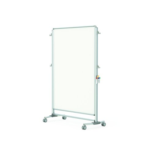 Ghent 76-1/8'' x 52-3/8'' Nexus Partition, Double-Sided Mobile Porcelain Magnetic Whiteboard (NEX224MMP) by Ghent