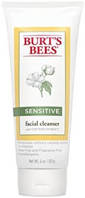 Burt's Bees Face Cleanser for Sensitive Skin, 6 Ounces