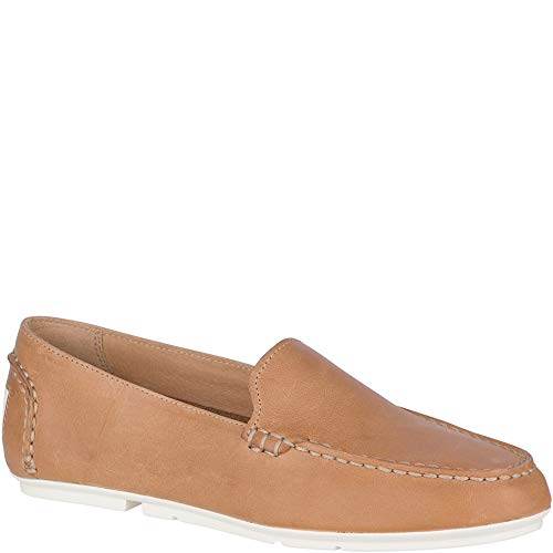 SPERRY Women's Bay View Slip-On Leather Tan 9 M - Shopper Tan