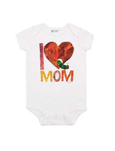 Out of Print World of Eric Carle, The Very Hungry Caterpillar I Love Mom Baby Bodysuit 6 Months