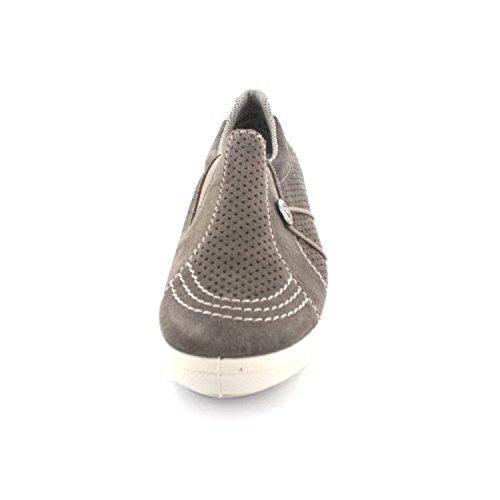 Pantofola Piatta Da Donna Rieker Grigio, (santos / Altsilber) M6065-25 Bianco