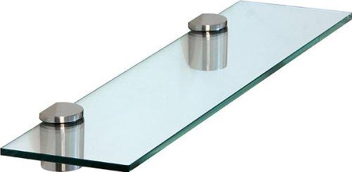 ib style satinato design scaffale di vetro scaffale da muro mensola in vetro trasparente 60 x 20 cm 8 mmtasselli a espansione di design colore finto