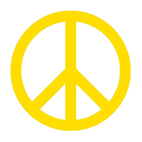 Peace Sign Symbol [Pick Any Color] Vinyl Transfer Sticker Decal for Laptop/Car/Truck/Window/Bumper (3in x 3in (Laptop Size), ()
