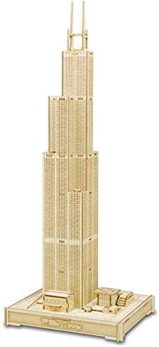 Perfectamente creativo, Puzzle 3D del edificio de Sears rompecabezas tridimensional de corte por láser de procesamiento de rompecabezas de los niños DIY, kit de construcción Modelo Modelo Regalo de va: Amazon.es: Hogar