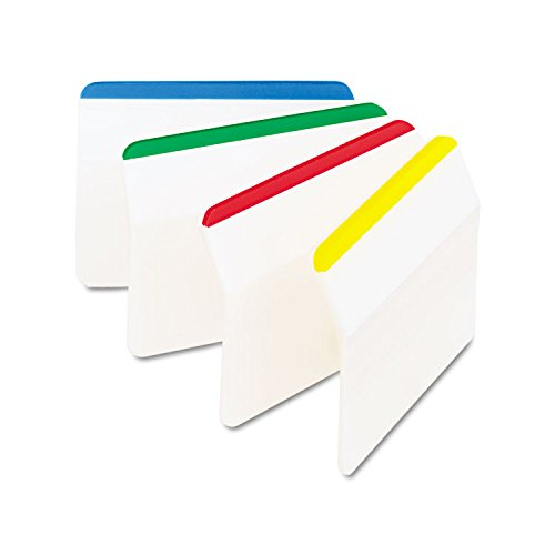 "Post-it 686A1 Hanging File Tabs, Angled, 2"", 24/PK, Primary Color Bars"