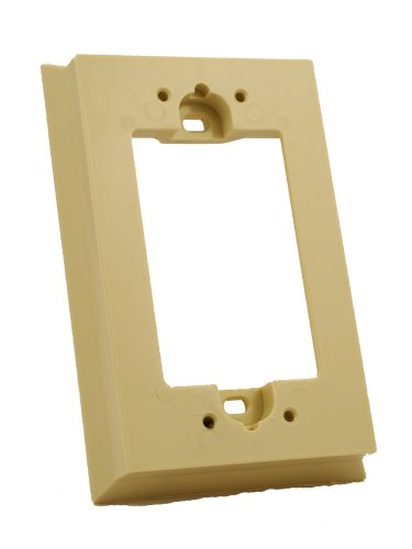 (Leviton 6197-I Shallow Wallbox Extender for Decora/GFCI Device, Ivory)