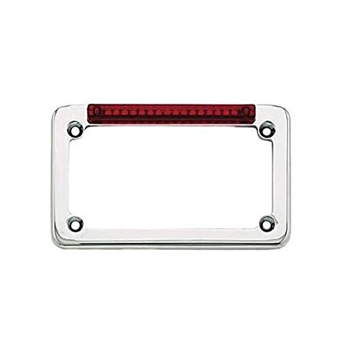Signal Dynamics LED License Plate Frame with Turn Signals - Chrome with Red Lens 02001