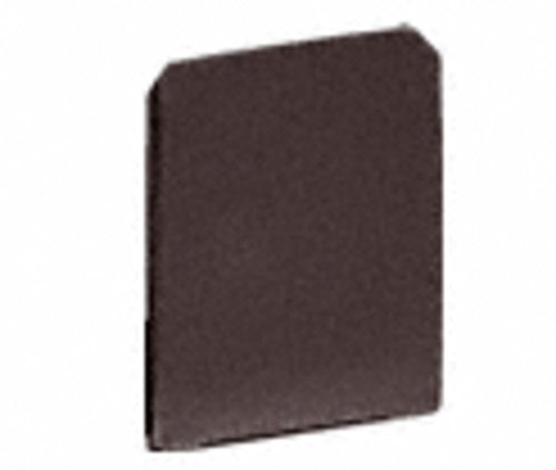 CRL Bronze Anodized End Cap for WU3 Series Wet/Dry U-Channel