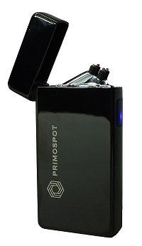 Arc Rechargeable USB Lighter by the Primo Spot, Flameless, Windproof, Eco-Friendly, Cool Gift Men Women (Ice Black) ()