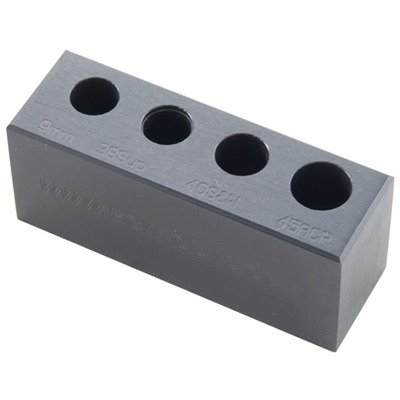 EGW 4-Hole Chamber Checker Max Cartridge Gage (9mm Luger, 38 Super, 40 S&W, 45 ACP)