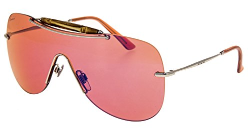 (Gucci 4262/S Sunglasses Palladium / Pink Mirror Blue)