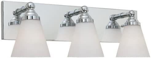 Designers Fountain 6493-CH 3 Light Bath Bar, Chrome