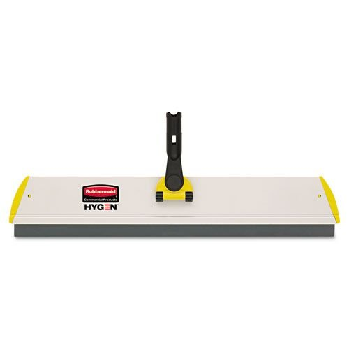 Rubbermaid Commercial Microfiber Quick Connect Frame, Squeegee, 24 Inch Width x 4 1/2 Depth, Aluminum, Yellow (Q570) (Connect Fiber)
