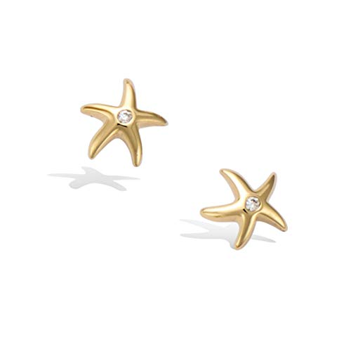 "Agvana Yellow Gold Filled 0.3"" Tiny Starfish Star Stud for sale  Delivered anywhere in USA"