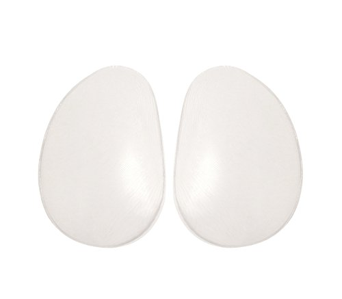 SODACODA Women's 400g/pair - Drop Shape Silicone Pads - for Bum Butt Push Up - Clear
