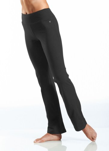 - Jockey Women's Activewear Cotton Stretch Bootleg Pant, Black, XL