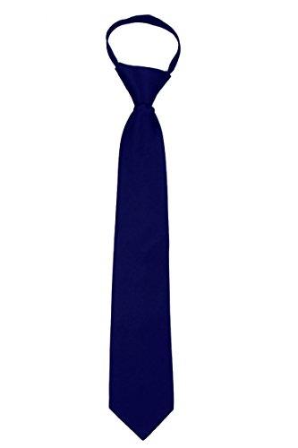 ZIP-ADF-23 - Mens Solid Color Zipper Necktie