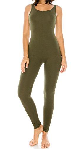 CNC STYLE Women's Active Plus n Regular Size Stretch Yoga Sleeveless One Piece Unitard Bodysuit Jumpsuit Playsuit ()