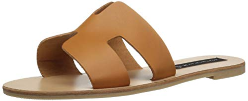 - STEVEN by Steve Madden Women's Greece Flat Sandal, Cognac Leather, 7.5 M US