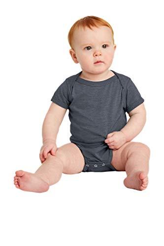 Rabbit Skins 4405 Infant Vintage Fine Jersey Bodysuit - Vintage Navy - 18MOS