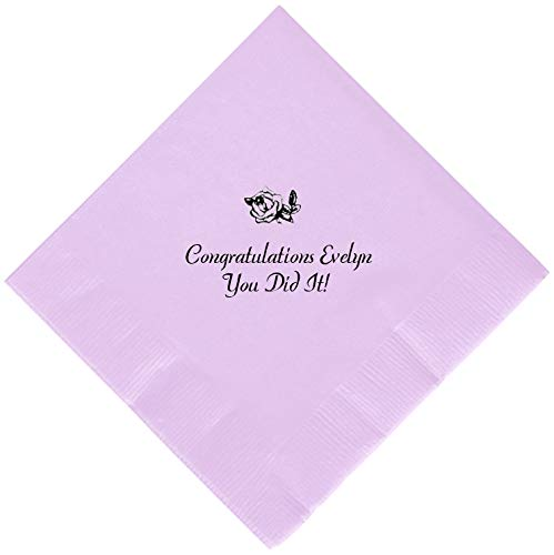 Personalized Cocktail, Beverage or Dessert Wedding Napkins (300) by Favor Supply Store (Image #8)