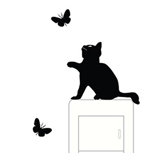 Cheap  Pocciol Lovely Wall Stickers, Cute Room Window Wall Decorating Switch Vinyl Decal..