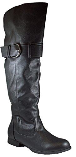 Charles Albert Womens Western Cowboy Boots Nero