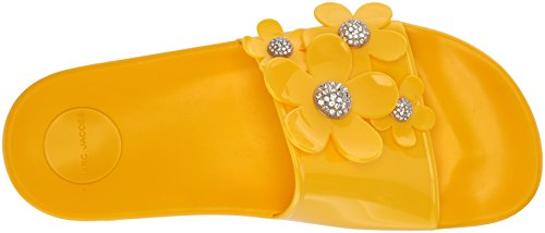 Marc Jacobs Womens Margherita Pave Aqua Slide Sandal Giallo